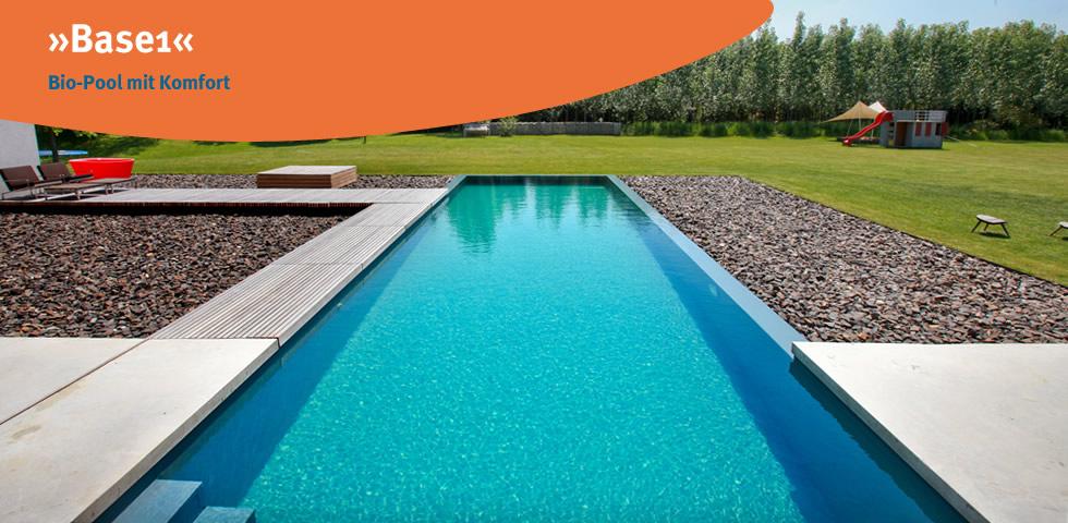 Base 1 ist der Bio-Pool mit Komfort aus der Produktionslinie des Herstellers blueBase